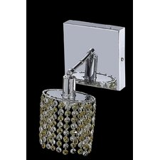 <strong>Elegant Lighting</strong> Mini 1 Light Ellipse Wall Sconce with Square Canopy