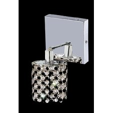 Mini 1 Light Round Wall Sconce with Square Canopy
