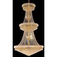 Primo 38 Light  Chandelier with Crystal