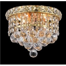 "<strong>Elegant Lighting</strong> Tranquil 2 Light 7"" Semi Flush Mount"
