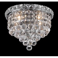 "<strong>Elegant Lighting</strong> Tranquil 4 Light 10"" Semi Flush Mount"