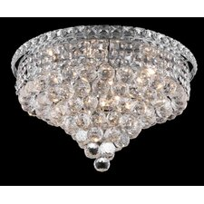 "<strong>Elegant Lighting</strong> Tranquil 8 Light 11"" Semi Flush Mount"