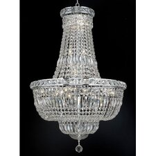 <strong>Elegant Lighting</strong> Tranquil 22 Light Chandelier with Crystal
