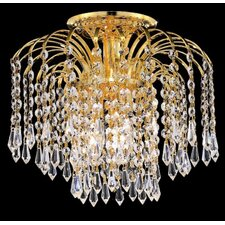 <strong>Elegant Lighting</strong> Falls 4 Light Semi Flush Mount
