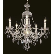 <strong>Elegant Lighting</strong> Alexandria 5 Light Chandelier