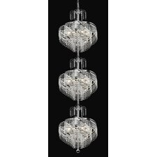 Spiral 24 Light  Chandelier