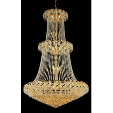 <strong>Elegant Lighting</strong> Belenus 32 Light  Chandelier with Crystal