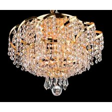 "<strong>Elegant Lighting</strong> Belenus 6 Light 10"" Semi Flush Mount"