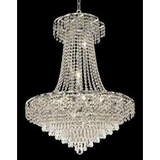 <strong>Elegant Lighting</strong> Belenus 15 Light Chandelier with Crystal