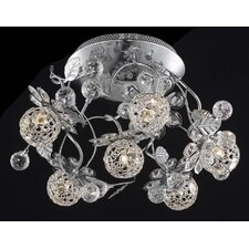 Iris 6 Light Semi Flush Mount