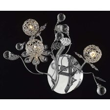 Iris 3 Light Plant Wall Sconce