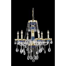 <strong>Elegant Lighting</strong> Alexandria 6 Light  Chandelier