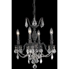<strong>Elegant Lighting</strong> Marseille 4 Light  Chandelier