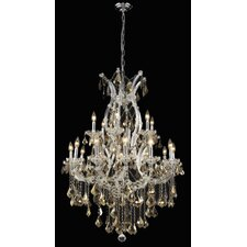 <strong>Elegant Lighting</strong> Maria Theresa 19 Light Chandelier with Chain