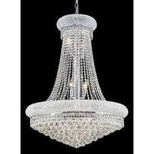 Primo 14 Light Chandelier with Crystal