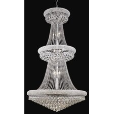 Primo 32 Light  Chandelier with Crystal