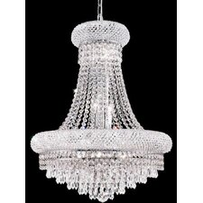 Primo 14 Light Chandelier with 4 Crystal Trims