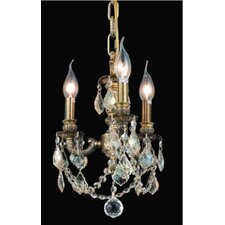 <strong>Elegant Lighting</strong> Lillie 3 Light Chandelier