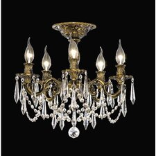 "Rosalia 17"" 5 Light Chandelier"