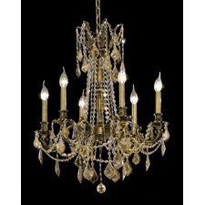 <strong>Elegant Lighting</strong> Rosalia 6 Light Chandelier