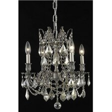 <strong>Elegant Lighting</strong> Rosalia 4 Light  Chandelier
