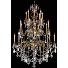 <strong>Elegant Lighting</strong> Marseille 24 Light  Chandelier