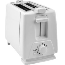 KitchenWorthy 2-Slice Toaster and Bun Warmer