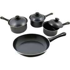 <strong>The Premium Connection</strong> KitchenWorthy Stainless Steel 7-Piece Cookware Set with Crate