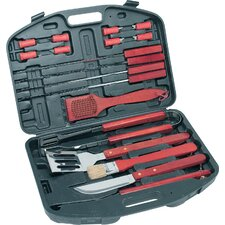 <strong>The Premium Connection</strong> KitchenWorthy 18 Piece Deluxe BBQ Tool Set