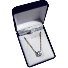 Brilliant Cut Cubic Zirconia Pendant Necklace