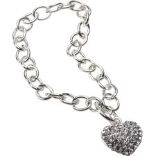 <strong>The Premium Connection</strong> Bret Roberts Crystal Heart Charm Bracelet