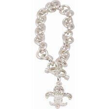Bret Roberts Fleur de Lys Charm Bracelet
