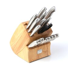 Insignia Steel 18 Piece Knife Block Set
