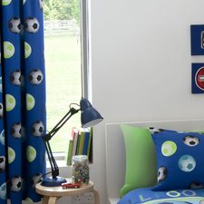 Football Curtain Set in Blue