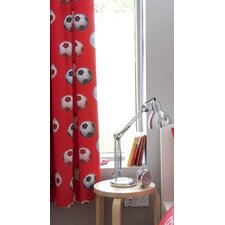 Football Curtain Set in Red