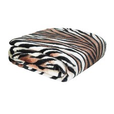 Designer Tiger Raschel Throw