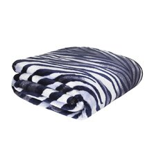 Designer Zebra Raschel Throw