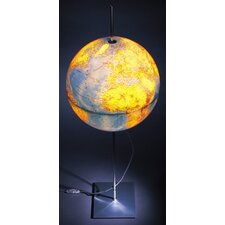 "Globe Earth German Lettering 35.5"" Table Lamp"