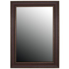 Copper Embossed Bronze Framed Wall Mirror