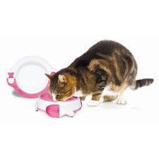 Cat Plate and Bowl Set in Pink