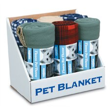 Polar Fleece Throw Assortment Dog Bed in Assorted Solids and Prints