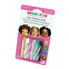 <strong>SnazarooUSA</strong> Face Paint Stick Girl (Set of 6)