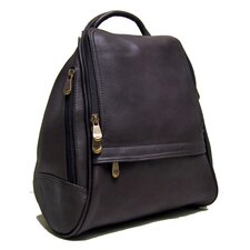 <strong>Le Donne Leather</strong> U Zip Mid Size Backpack