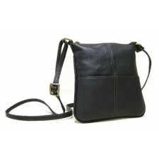 <strong>Le Donne Leather</strong> Front Pocket Cross Body Bag