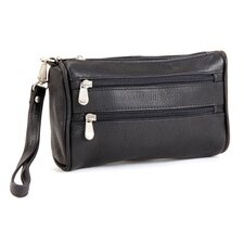 Two Zip Clutch  Wristlet Bag