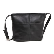 <strong>Le Donne Leather</strong> Two Slip Pocket Shoulder Bag