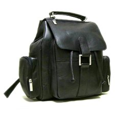 <strong>Le Donne Leather</strong> Multi Pocket Backpack