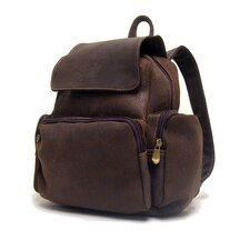 <strong>Le Donne Leather</strong> Women's Leather Multi Pocket Backpack