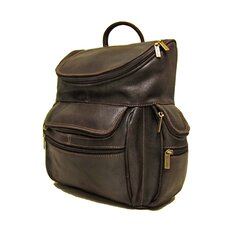 <strong>Le Donne Leather</strong> Distressed Leather Laptop Backpack