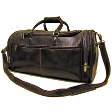 "21"" Distressed Leather Overnighter Travel Duffel"